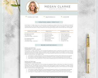 Creative Resume Template, CV Template for MS Word, Modern, Professional Resume Design, Resume Instant Download, Buy 1 Get 1 Free