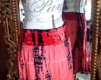 Vintage Sacred Threads Batik Hippie Boho Festival Skirt