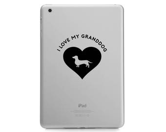 I Love My Granddog Decal - Husky / Pug / Dachshund / Dog Mom