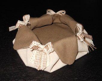 Fabric handmade jewelry box