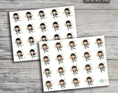 Money Payday Girl Icon Stickers (Glossy & Matte)
