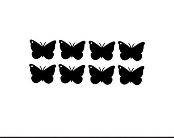 butterfly tags gift tags svg dxf jpeg png file stencil monogram frame silhouette cameo cricut clip art commercial use