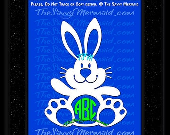 Easter Svg file-  Boys Easter Bunny SVG- Easter Monogram SVG- Vinyl Easter Shirt SVG Design- Cricut Easter- Dxf Silhouette- Easter Iron on