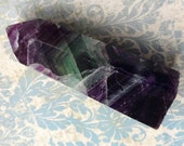Large Translucent Rainbow Fluorite Wand - 88.8 grams - Purple, Green, Blue, Multicolor Fluorite Crystal Point, Generator, Tower, Focal Stone