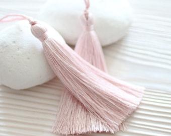 Pink silk tassel, large tassels, pale pink tassel, hand made silk tassel, decorative tassels,jewelry tassels, tassel,thread tassel, pink,N35