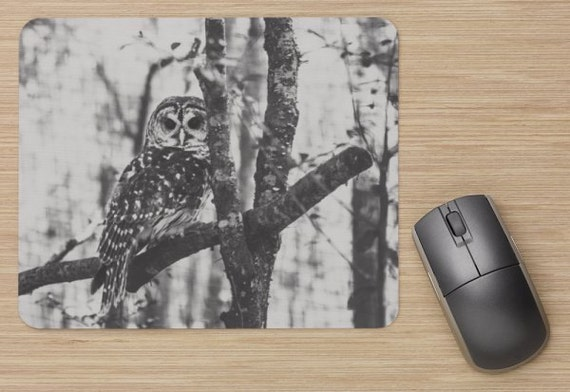 Owl Mouse Pad - Owl Mousepads - Computer Mat - Office Accessories - Office Decor - Desk Accessories - Office Gifts