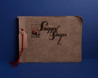 1930s Old Snappy Snaps Photograph Album - Includes original Black & White British Holiday Photos -  Ilfracombe Scarborough History