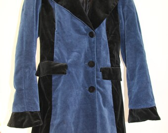 1990's Maribou London Victorian Velvet Trench Coat