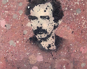 John Wilkes Booth Graffiti, oil-on-hardboard painting
