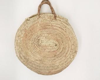 Round Woven Market Bag