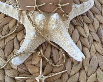 Starfish Pendent Necklace & Earring Set,Coastal,Jewelry,Sealife,Starfish Jewelry