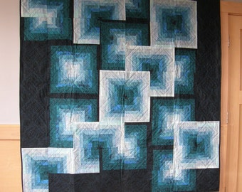 Kaleidoscope Quilt / Throw / Lap Quilt