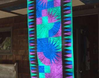 Vibrant Quilted Wall Hanging