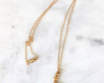 Dainty Gold Mermaid Necklace - Gold Mermaid Charm Necklace - Birthday Gift for Wife, Girlfriend Anniversary Gift for Girlfriend, Mom Gift