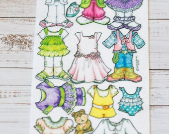"Just For Girls Clothing - Extra clothes for the 7"" Book Baby - La-Di-Doll."