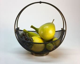 Art Deco brass and wire fruit basket | catch all