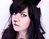 KATZENOHREN HAARSPANGEN - Kitty Haarclips in der Farbe deiner Wahl - DIY Custom Farbauswahl - Haarspangen aus weichem Wellness-Fleece