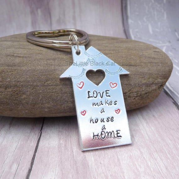 Popolare Portachiavi casa regalo casa nuova casa catena chiave casa YP98