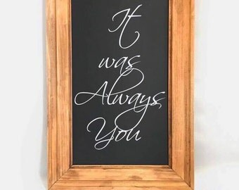 Wedding Sign - Rustic Wedding Decor - Wedding Chalkboard Sign - Wedding Decor - Standing Chalkboard - Valentine's Day - Wedding Signs