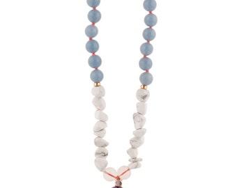 ANGEL Gemstone Mala Necklace ///