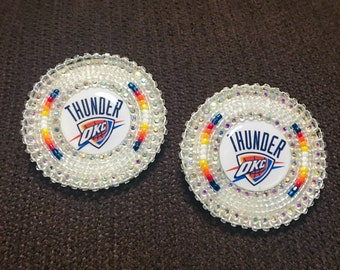Oklahoma City Thunder Native Beadwork Earrings
