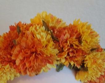 Day of the dead headpiece, dia de los muertos costume, floral headband