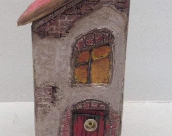 ETS-9  Handcrafted Fairy House With Exposed Brick