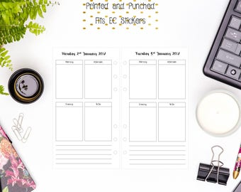Personal Day Per Page | DO1P | 1D1P | Daily Vertical Layout Inserts for Personal Filofax | Medium Kikki K | Colour Crush Planners