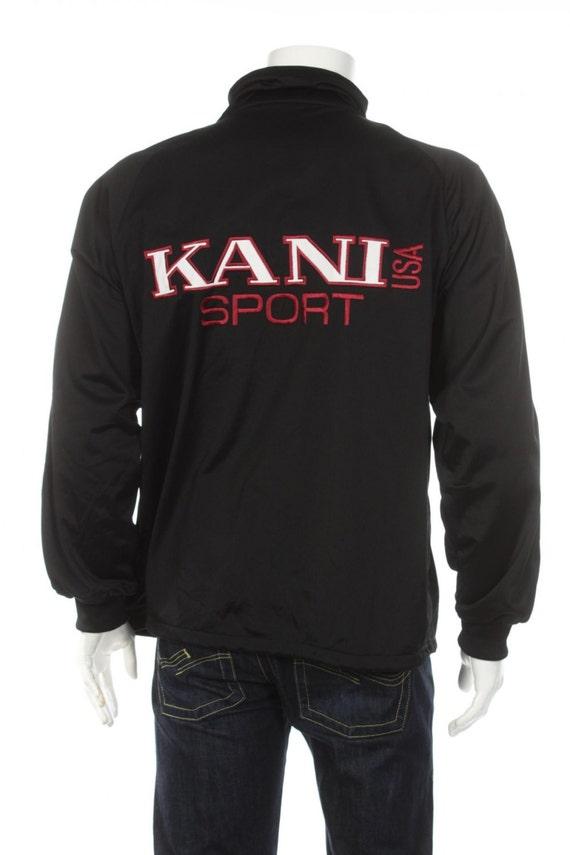 vintage 90s karl kani sport tracksuit top windbreaker jacket. Black Bedroom Furniture Sets. Home Design Ideas