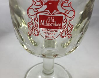 Vintage Old Milwaukee Bird Crest Beer Goblet
