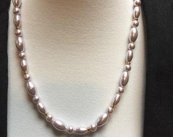 "Marvella 24"" Blush Pink Beaded Necklace"