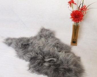 Sheepskin Rug Icelandic Natural Grey Single Pelt   Scandinavian