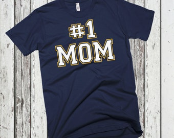 Number #1 Mom Best Mother Cute Mother's Day Best Mom Ever T-Shirt