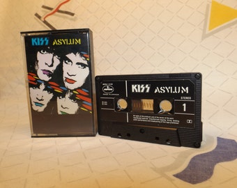 KISS album Asylum 1985 Cassette Tape 1985 vintage Cassette Tapes Tape Players Kiss Detroit Rock City Rock and Roll 80s music