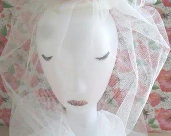 Rose Veiled Sinamay  Wedding Fascinator