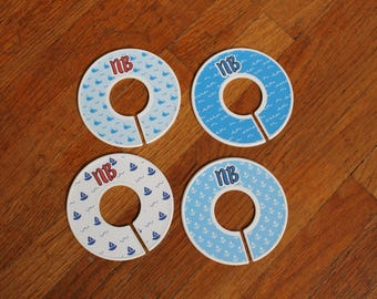 Nautical Baby Clothing Rack Size Dividers // Hanger Dividers // Whales / Waves / Sail Boats / Anchors // Set of 6 // Single or Double-Sided
