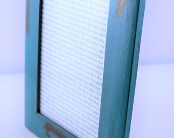 4x6 Distressed Teal Photo Frame, Painted Tabletop Frame