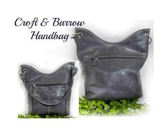 Vegan leather Handbag - Grey hand Bag - grey Shoulder Bag - grey designer purse , stylish handbag , over the shoulder purse -  # 160