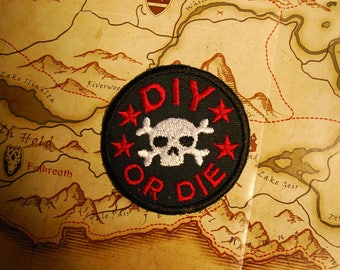 DIY or DIE Iron on Patch (Free Shipping)