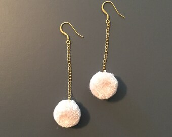 Pom Pom Earrings One of a Kind 14k Gold Plated