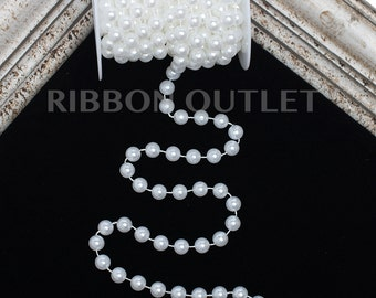 10mm White Pearl String
