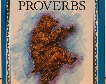 Jewish Proverbs. Illustrated by Brenda Rae Eno. Funny sayings, cute gift book. Humorous vintage book from warehouse--never been used!