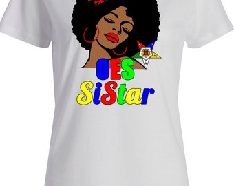 OES Sistar T-Shirt Afro Girl /Custom