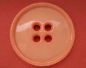 4 large buttons orange 28mm (5070)