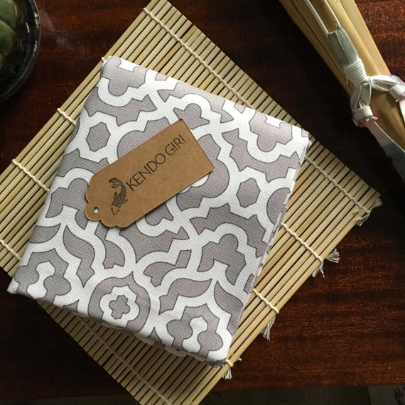 Kendo Shinpan Ki Judge Flag Bag for Shinpan – Winter Lattice Design by Kendo Girl