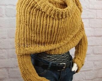 Sweater Scarf Crochet Pattern Crochet  Pattern Crochet Scarf With Sleeves Crochet Shrug Pattern Crochet Sweater Pattern Shawl Pattern