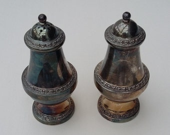Vintage Silver Plate Cruet Set Ianthe Salt and Pepper Pots 1960's