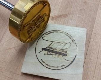 """2"""" Round Custom Artwork Branding Iron"""