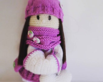 Lilly Pearl doll, crochet doll, amigurumi doll, handmade doll, stuffed doll, doll
