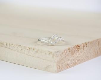 Rayne Twig Ring, Sterling Silver, Silver Twig Ring, Stacking Ring, Twig Stacking Ring, Silver Twig Stacking Ring, Stacking Twig Jewelry